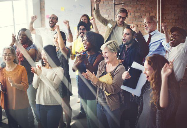 Team Teamwork Meeting Success Happiness Concept