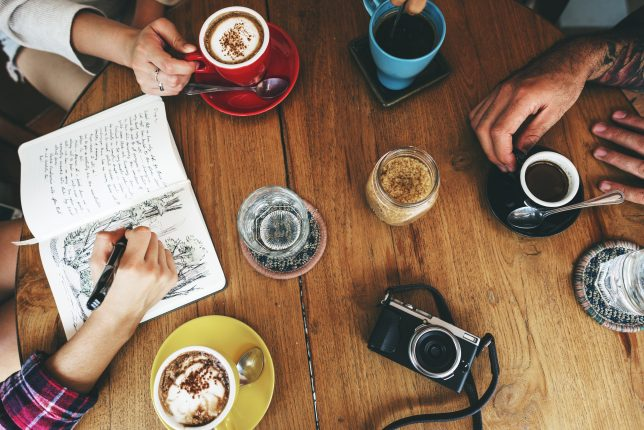 Coffee Shop Cafe Drinking Friendship Togetherness Concept